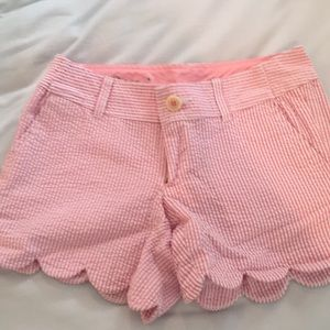 Lilly Pulitzer buttercup scallop pink shorts